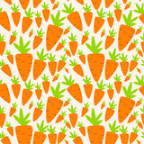 Karotten-nahtloser Muster-Hintergrund-Vektor stock abbildung