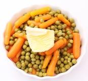 Karotten und Erbsen Lizenzfreies Stockfoto