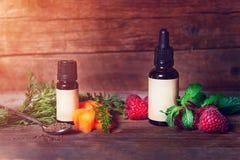 Karotten-und Himbeersamen-?l Rein, nat?rlich Aromatherapie, Massage-Basis?l, Lichtschutz lizenzfreie stockfotografie
