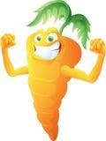 Karottenkarikaturaufstellung Stockbild