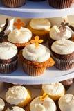 Karottenkuchen-kleine Kuchen Lizenzfreies Stockbild
