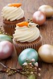 Karottenkuchen-Muffins lizenzfreie stockfotografie