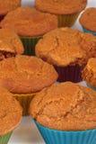 Karottenkuchenmuffins Lizenzfreie Stockfotografie