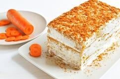 Karottenkuchennachtisch Stockbild