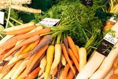 Karottenmarkt Lizenzfreies Stockfoto
