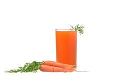 Karottensaft und Karotte Lizenzfreie Stockfotografie