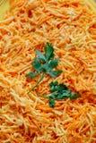 Karottensalatnahaufnahme Stockfoto