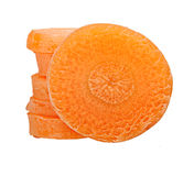 Karottenscheibe lokalisiert Lizenzfreie Stockfotos
