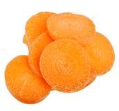 Karottenscheibe lokalisiert Stockfotos