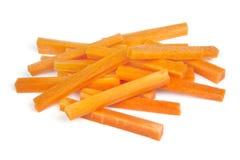 Karottenstifte getrennt auf Weiß lizenzfreies stockbild