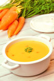 Karottensuppe stockbild