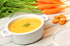 Karottensuppe Lizenzfreie Stockfotografie