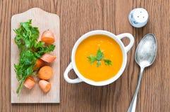 Karottensuppe Stockfotografie