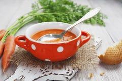 Karottensuppe Stockfoto