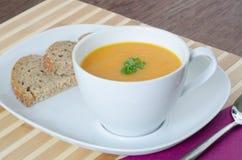 Karottensuppe mit Ingwer Lizenzfreies Stockfoto