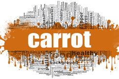 Karottenwortwolke Lizenzfreie Stockfotos