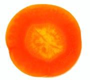 Karottescheibe auf weißer/Supernahaufnahme Lizenzfreies Stockbild