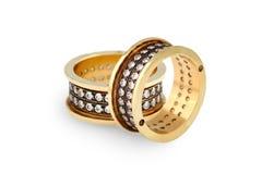 karowi złociści pierścionki Obrazy Royalty Free