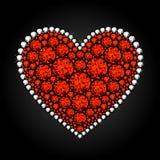 karowy serce Obrazy Stock