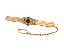 karowy złoty wałkowy krawat Zdjęcie Royalty Free