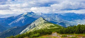 Karpacki jesień krajobraz Obraz Royalty Free