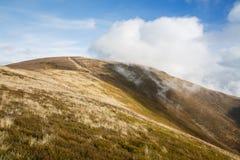 Karpackich gór krajobraz w jesieni zdjęcie royalty free