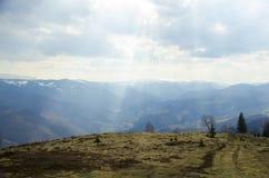 Karpackich gór Sibiu okręg administracyjny Rumunia Fotografia Stock