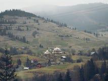 Karpackie góry w Ukraina Zdjęcia Royalty Free