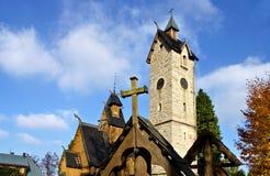 Karpacz church Vang Stock Image