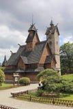 Karpacz kyrka Wang poland Arkivbilder