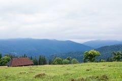 Karpaten-Gebirgslandschaft Lizenzfreie Stockbilder