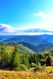 Karpaten Mountais, Ukraine lizenzfreies stockbild