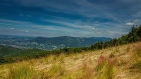 Karpaten-timelapse, Fotos eingelassene Beskid-Berge stock video footage