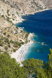 Karpathos - The white sandy beach of Apella Royalty Free Stock Image