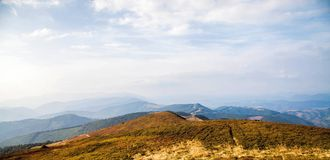 Karpathyan mountains. In Ukraine. Good place for hicking Royalty Free Stock Image