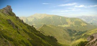 Karpatisch bergenpanorama Stock Foto