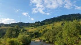 Karpatisch berglandschap stock foto