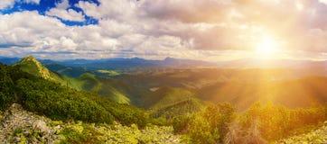 Karpatisch berglandschap royalty-vrije stock afbeelding