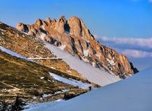 Karpatisch: De berg van Ciucas Stock Foto