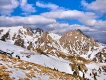 Karpatisch: De bergen van Ciucas Stock Foto