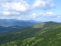 Karpatisch landschap Stock Afbeelding