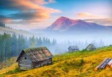Karpatische berg valley_11 Royalty-vrije Stock Foto's