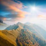Karpatische berg valley_7 Stock Afbeeldingen