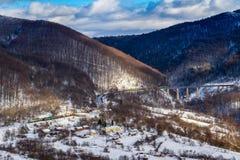 Karpatische Bergen in de winter Royalty-vrije Stock Foto