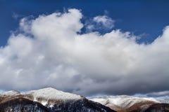 Karpatische Bergen in de winter Stock Foto's