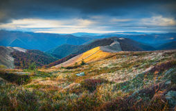 Karpatische de herfstbergen Royalty-vrije Stock Afbeelding