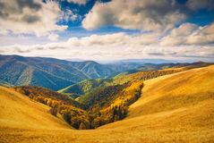 Karpatische heuvels Stock Afbeelding