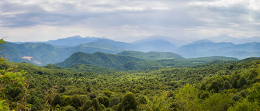 karpaty κοιλάδα της Ουκρανίας βουνών τοπίων Δημοκρατία Adygea, περιοχή Krasnodar, της Ρωσίας Στοκ Εικόνες
