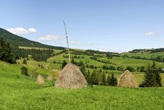 Karpaty, End summer royalty free stock photography