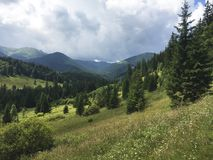 Karpaty is picturesque place mountains in Ukraine royalty free stock photos